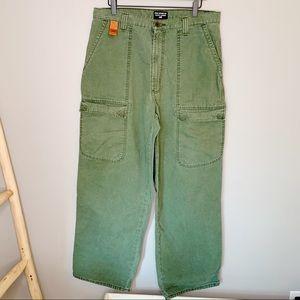 Polo Ralph Lauren green wide infantry pants. 34x32